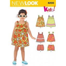 Patron de Robes fillettes NEW LOOK Réf NL6200