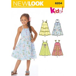 Patron de Robes fillettes NEW LOOK Réf NL6204