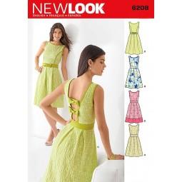 Patron de Robe classique NEW LOOK Réf NL6208