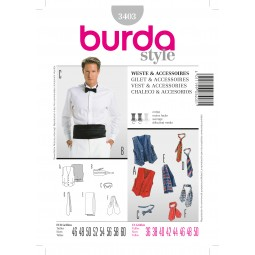 Patron N°3403 Burda style : Gilet / accessoires