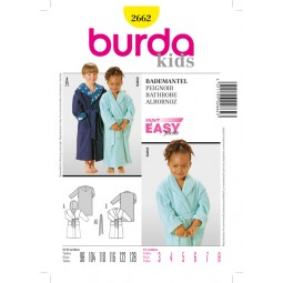 Patron N°2662 Burda kids : Peignoir
