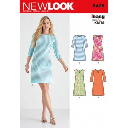 Patron N°6428 New Look : Robe