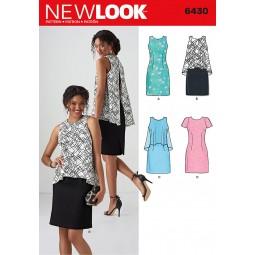 Patron N°6430 New Look : Robe