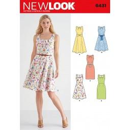 Patron N°6431 New Look : Robe