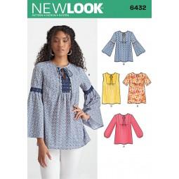 Patron N°6432 New Look : Tunique