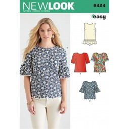 Patron N°6434 New Look : T-shirt