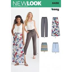 Patron N°6436 New Look : Jupe et pantalon