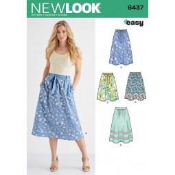 Patron N°6437 New Look : Jupes