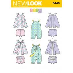 Patron N°6440 New Look : Ensemble bébé