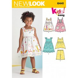 Patron N°6441 New Look : Robe fillette