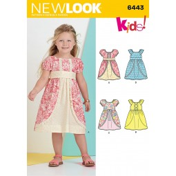 Patron N°6443 New Look : Robe fillette