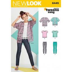 Patron N°6445 New Look : Ensemble fille