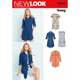 Patron New Look N°6449 Robe