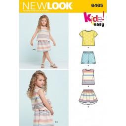 Patron New Look N°6465 Ensemble fille