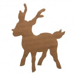 Décoration de Noël : Renne en carton à décorer Réf 57/95/C1722