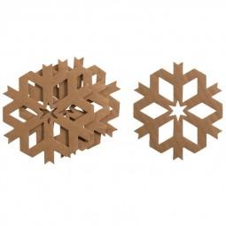 Décoration de Noël : Flocon en carton à décorer Réf 57/95/C1721