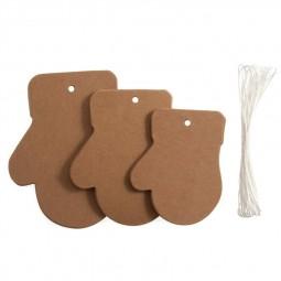 Décoration de Noël : Assortiment de moufles en carton à décorer Réf 57/95/C1718