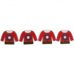 Décoration de Noël : Pulls rouges de Noël Réf 57/95/C1694