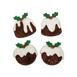 Décoration de Noël : Gâteau de Noël à paillettes Réf 57/95/C1673