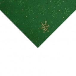 Feutrine vert flocons or et verts format A4 Réf 57/95/AF07/05