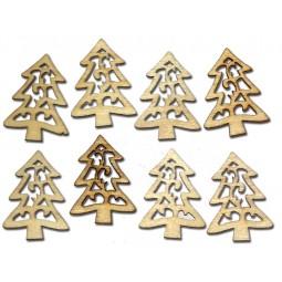 Décoration de Noël : petits sapins en bois Réf 57/95/C1327