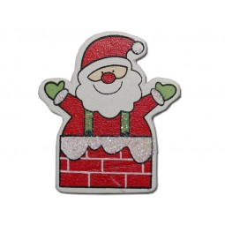 Embellissement, scrap : Père Noël dans la cheminée adhésifs Réf 57/95/C1375