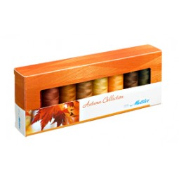 Coffret de 8 bobines de fil Silk-Finish Automne réf 58/SF8AUTUMN