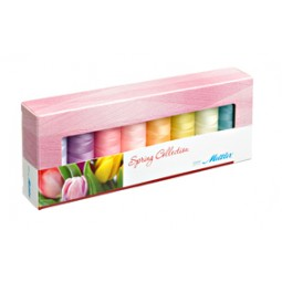Coffret de 8 bobines de fil Silk-Finish Printemps réf 58/SF8SPRING