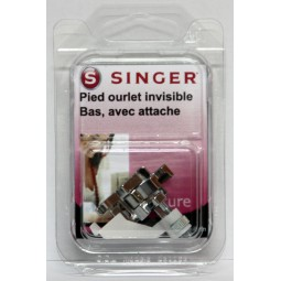 Pied ourlet invisible bas sous blister Singer réf 44/75/1017.B