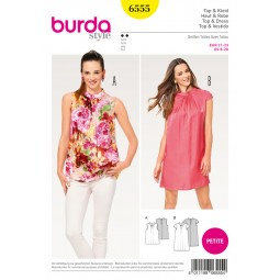Patron Robe et top Burda B6555