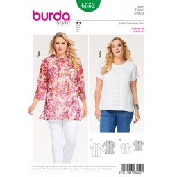 Patron Blouse et top Burda B6552
