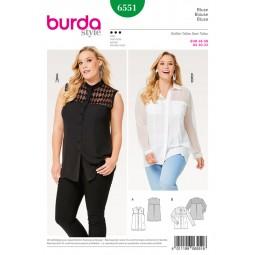 Patron Blouse Burda B6551