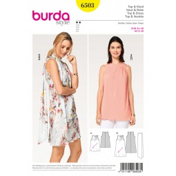 Patron Robe et top Burda B6503