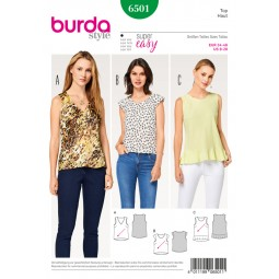 Patron Top Burda B6501