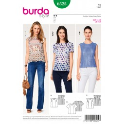 Patron Blouse et top Burda B6525