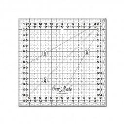 Règle carrée 16x16 cm 3mm épaisseur