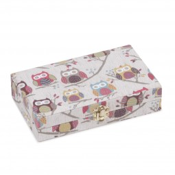 Sac coffret 20 x 12 x 4.5 Collection CHOUETTES