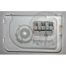Plaque glissière 3210 3230 - ELNA Réf 48/76/1001