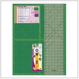 Kit planche de découpe + règle et couteau rotatif Réf 57/95/1609