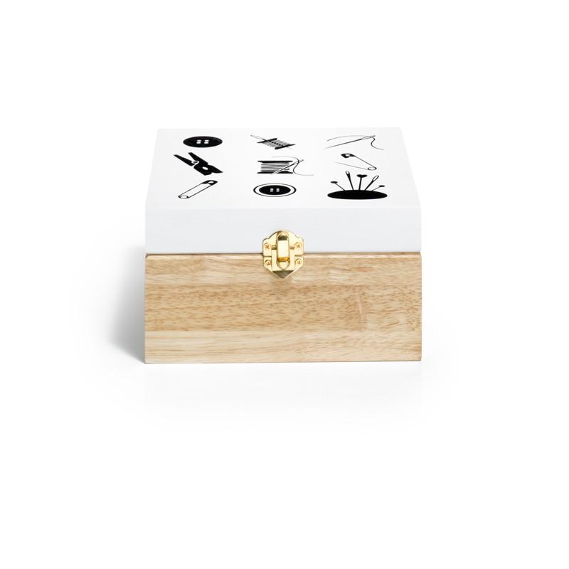 Boìte de rangement bois motif coudre - Lettre prix de vente conseillé PP
