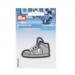Motif br. Reflex adhésive/thermocollant chaussure de sport argent - Lettre prix de vente conseillé K
