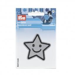 Motif br. Reflex adhésive/thermocollant étoile argent - Lettre prix de vente conseillé K