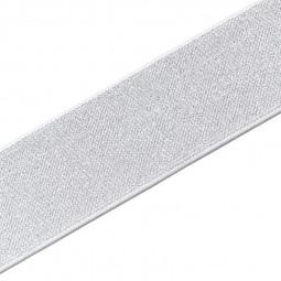 Elastique Color 50 mm blanc/argent - Lettre prix de vente conseillé