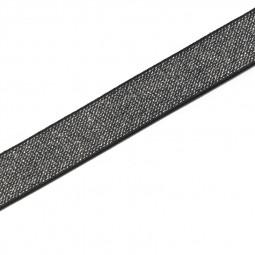 Elastique Color 25 mm noir/argent - Lettre prix de vente conseillé