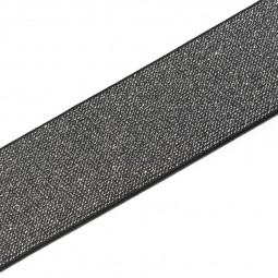 Elastique Color 50 mm noir/argent - Lettre prix de vente conseillé