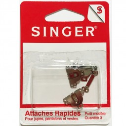 Agrafes nickelees pour jupe SINGER SF430.S Réf 57/95/1194