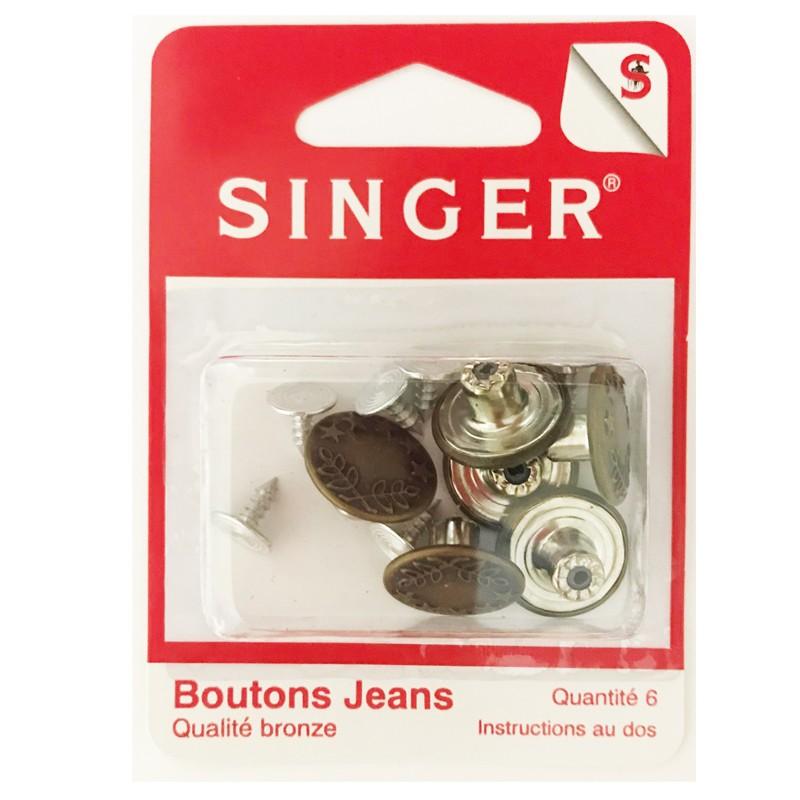 Boutons jeans couleur bronze SINGER SF466.BZ Réf 57/95/1086