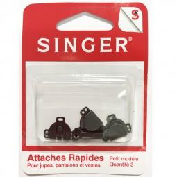 Attaches rapides noires pour jupe SINGER SF431.S Réf 57/95/1197