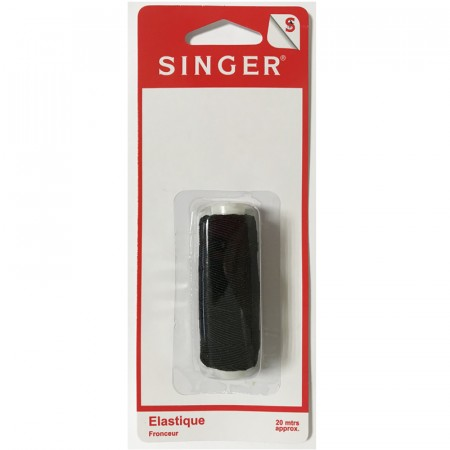 Elastique fronceur noir 20 metres SINGER SF601 Réf 57/95/1196