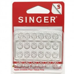Boutons pression 7mm nylon invisible SINGER SF422 Réf 57/95/1204